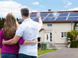 Dach mit Solarplatten